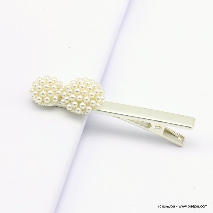 hair clip 0619011-13 metal-acrylic 62x18mm