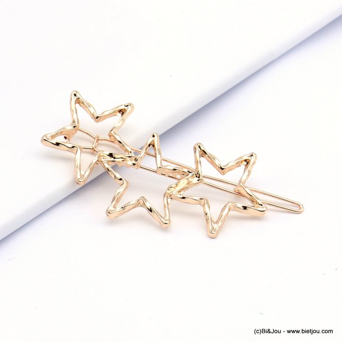 hair grip 0619015-23 star metal 60x32mm