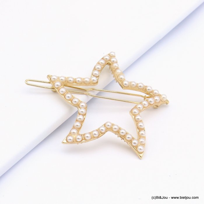 hair grip 0619017-14 star metal-acrylic 55x53mm