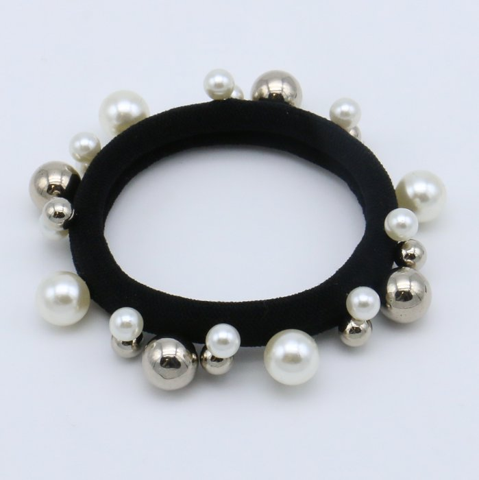 scrunchie 0619504-19 elastic hair beads metallic resin balls diameter:45mm