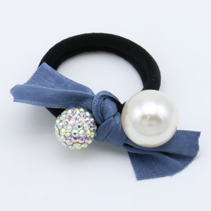 scrunchie 0619509-08 hair elastic hair velvet knot beads rhinestone diameter: 45mm