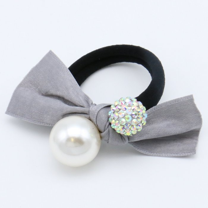 scrunchie 0619509-25 hair elastic hair velvet knot beads rhinestone diameter: 45mm