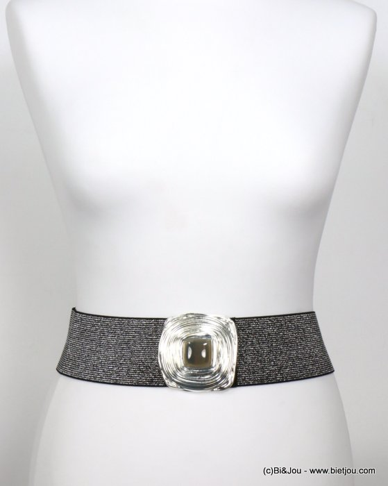 belt 0619534-13 glitter elastic-metal-resin