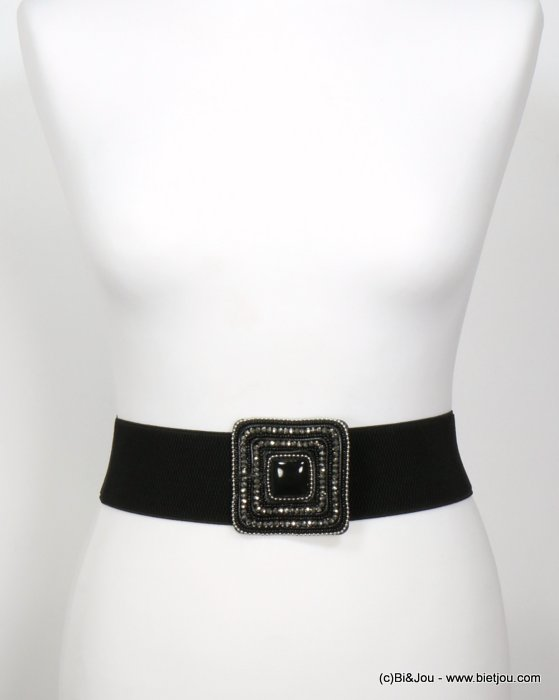 belt 0619535-01 elastic metal-acrylic-synthetic-crystal