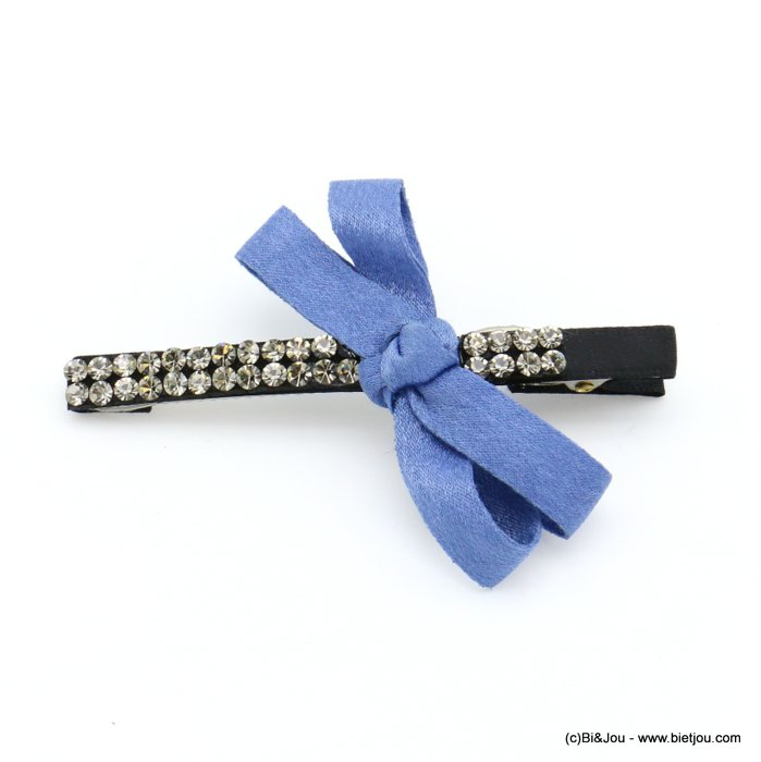 hair clip 0619571-08 bowknot metal-strass-polyester 82x60mm