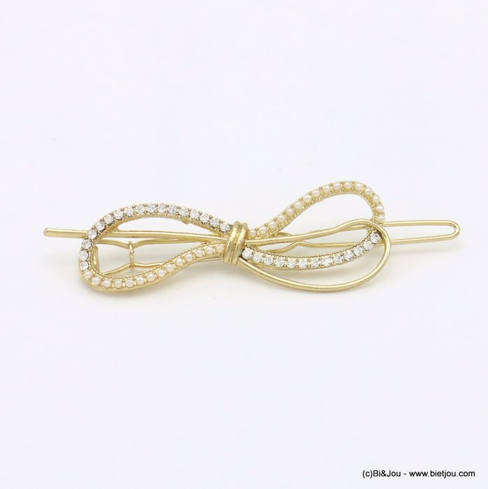 hair grip 0619576-14 metal-acrylic-strass 77x19mm