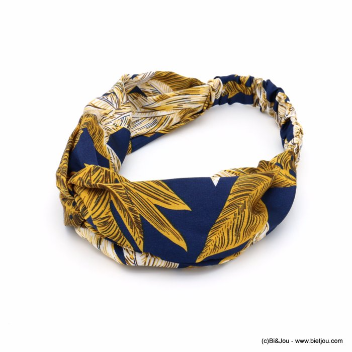 hair band 0619584-09 leaf polyester elastic 80mm