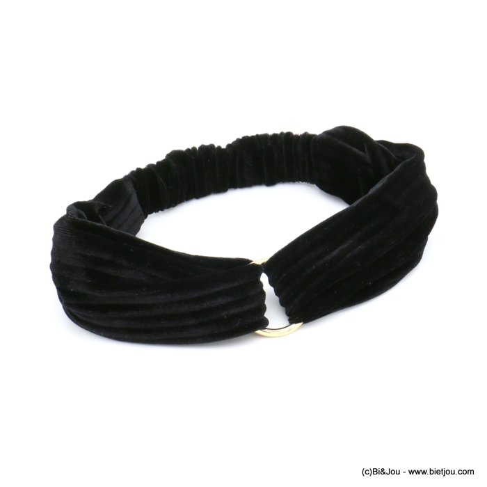 hair band 0619586-01 velvet elastic metal 75mm