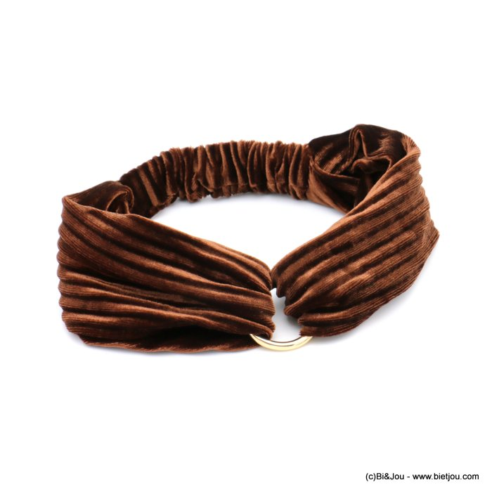 hair band 0619586-02 velvet elastic metal 75mm