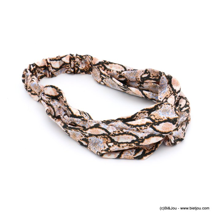hair band 0619587-36 elastic boa snake pattern polyester 50mm