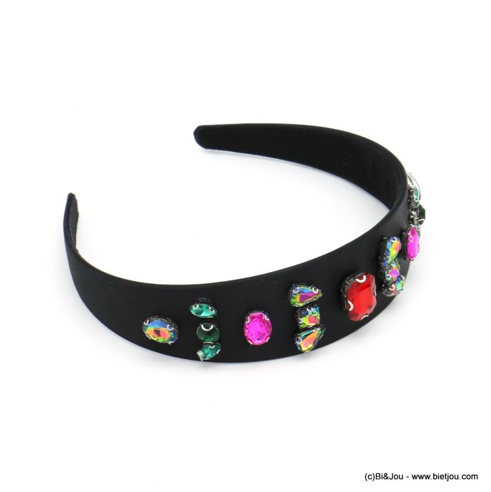 hair hand 0619590-01 satin metal strass 39mm