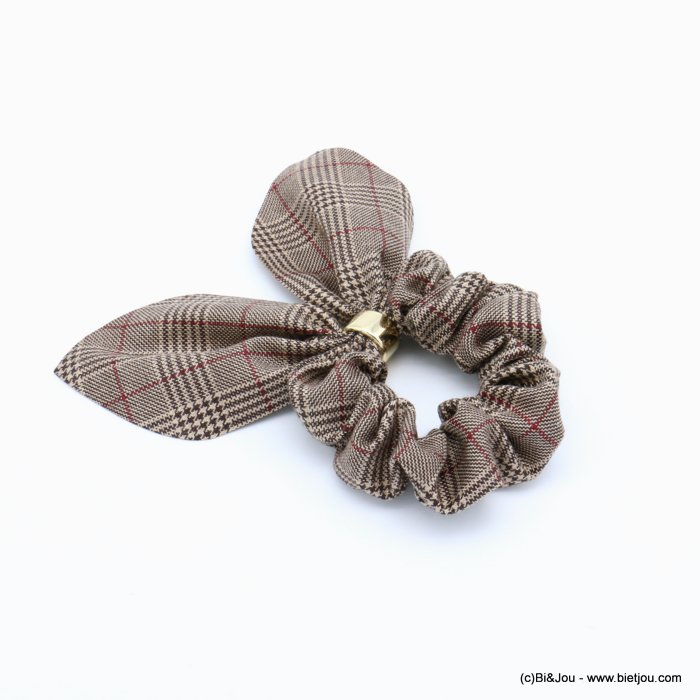 scrunchie 0619597-02 hair houndstooth elastic polyester metal