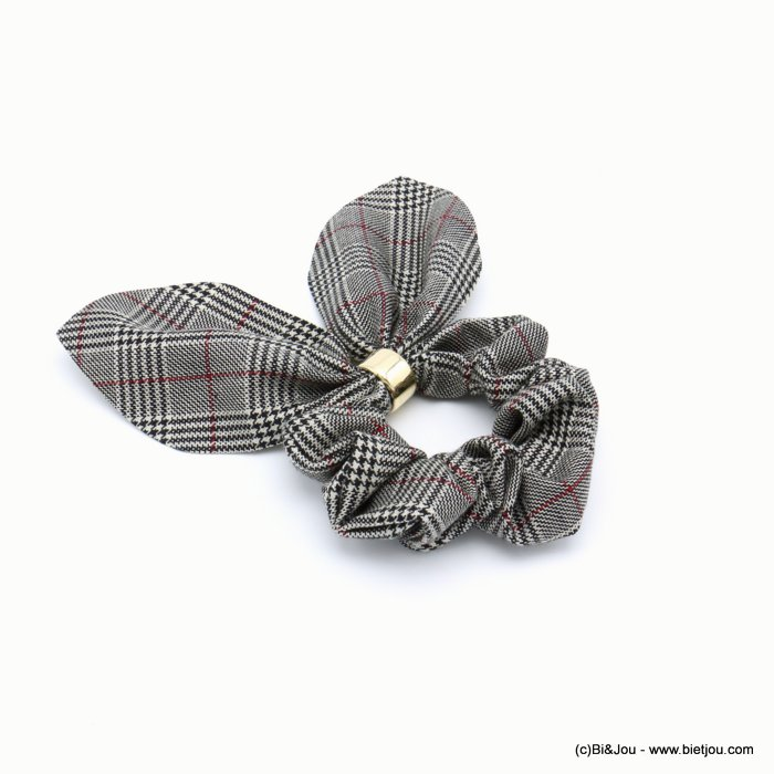 scrunchie 0619597-26 hair houndstooth elastic polyester metal