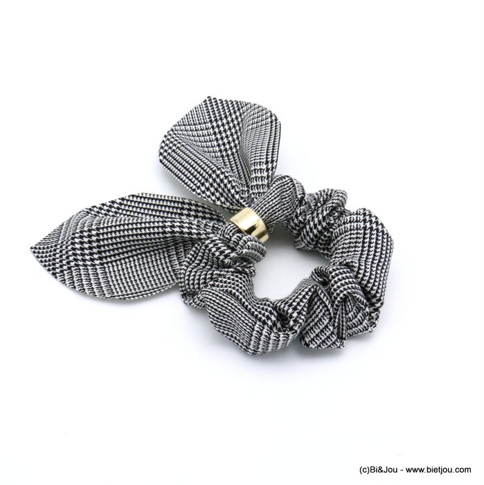 scrunchie 0619597-97 hair houndstooth elastic polyester metal