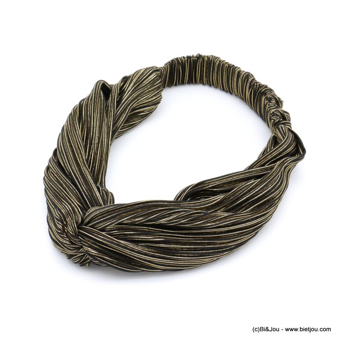 hair band 0619599-15 elastic polyester metallized thread 80mm