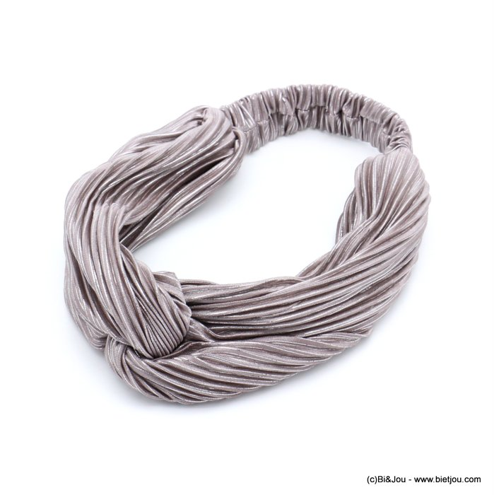 hair band 0619599-32 elastic polyester metallized thread 80mm