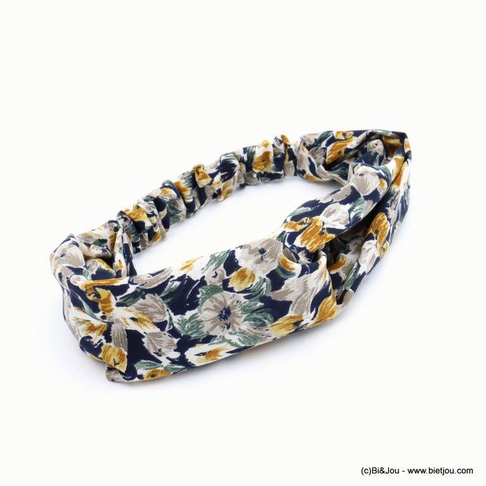 hair band 0619601-09 flower elastic polyester 70mm