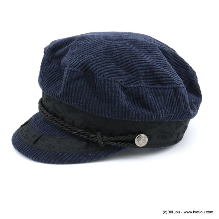hat 0619610-09 sailor cap woman corduroy 50%wool 50%polyester