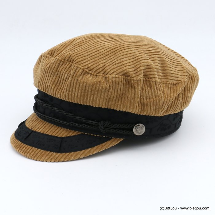hat 0619610-42 sailor cap woman corduroy 50%wool 50%polyester