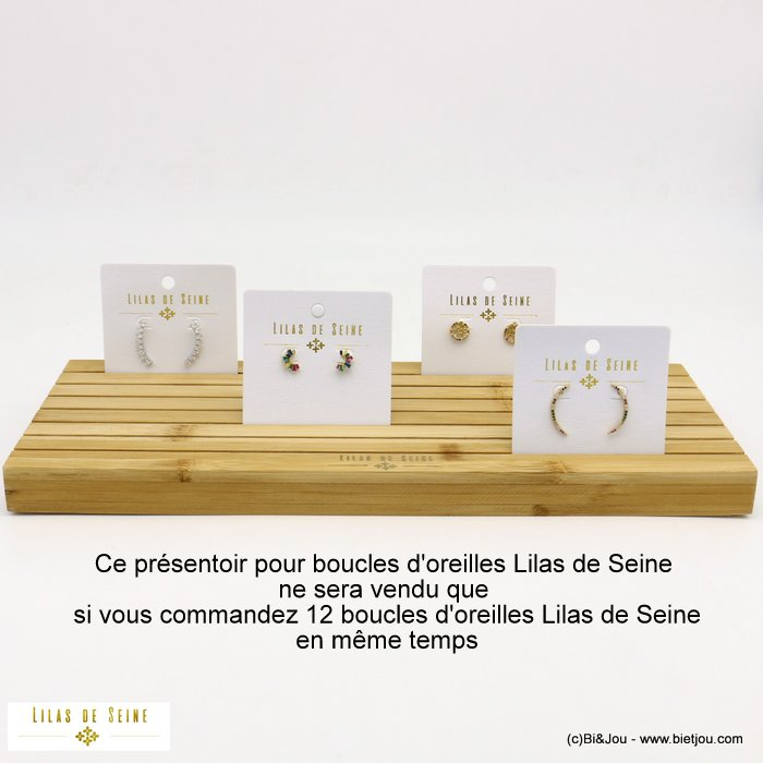display 0619612-06 wood for Lilas de Seine earrings 380x150x25mm
