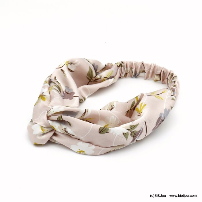hair band 0620010-18 flower satin elastic 80mm