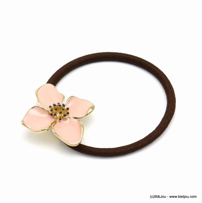 scrunchie 0620023-18 flower elastic hair metal-enamel-polyester