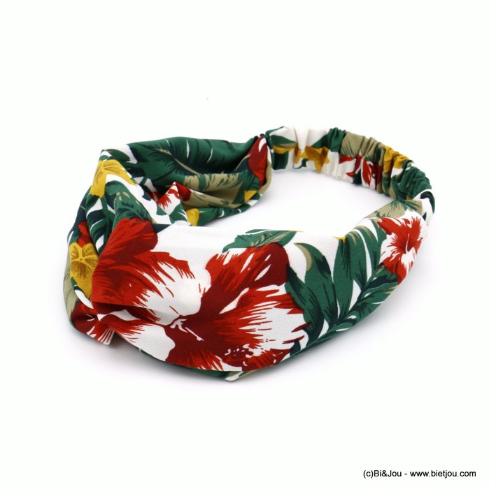 hair band 0620024-07 flower polyester elastic 80mm