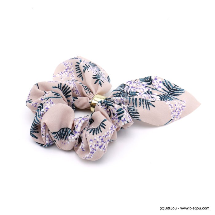 scrunchie 0620025-18 flower hair elastic polyester metal