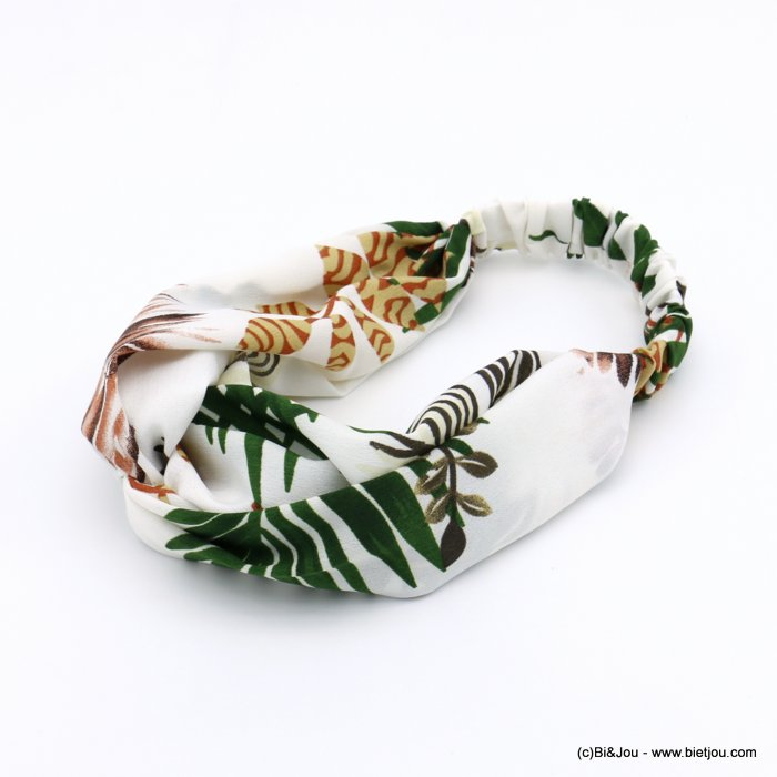 hair band 0620026-19 leaf polyester elastic 80mm