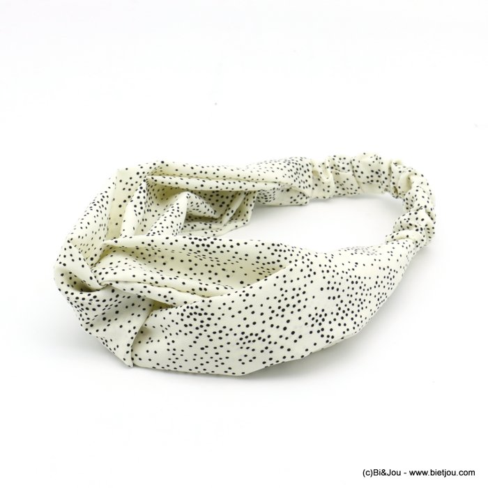 hair band 0620029-06 polka dots polyester elastic 80mm