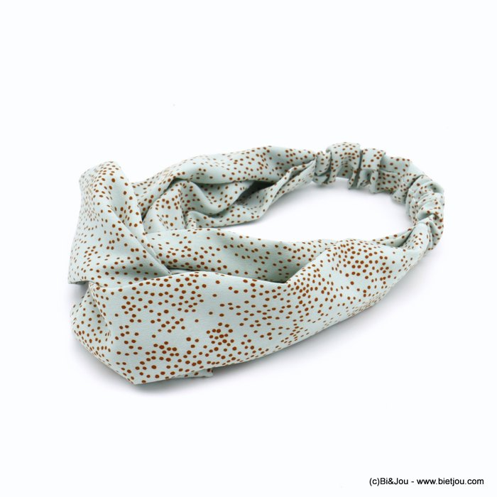 hair band 0620029-07 polka dots polyester elastic 80mm