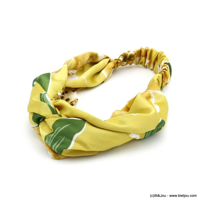 hair band 0620036-43 flower satin elastic 80mm