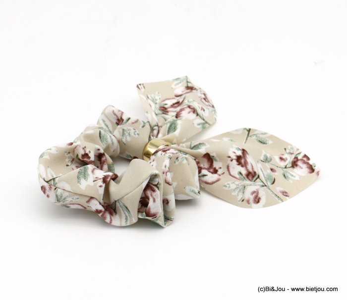 scrunchie 0620037-06 flower hair elastic polyester metal
