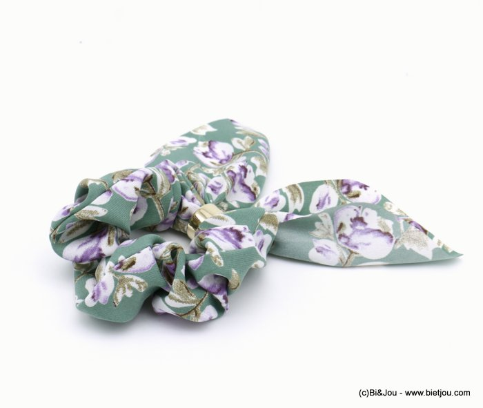 scrunchie 0620037-07 flower hair elastic polyester metal
