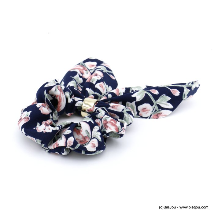 scrunchie 0620037-09 flower hair elastic polyester metal