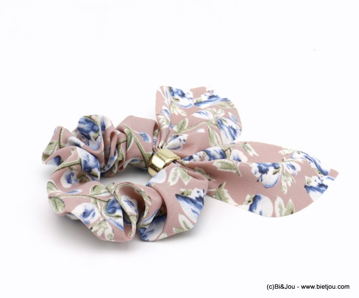 scrunchie 0620037-18 flower hair elastic polyester metal