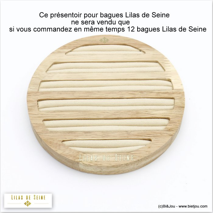 display 0620039-06 wood nubuck for Lilas de Seine rings 150x18mm