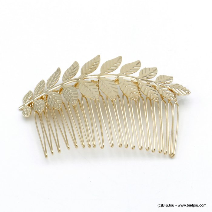 hair slide 0620042-06 leaf metal 83x51mm