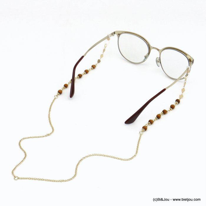 Glasses Chain 0620047-30 metal-wood