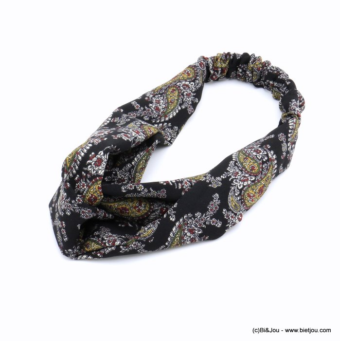 hair band 0620510-01 flowers polyester elastic 80mm
