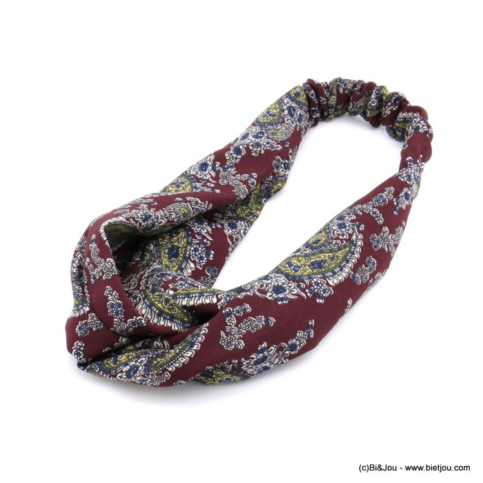 hair band 0620510-10 flowers polyester elastic 80mm