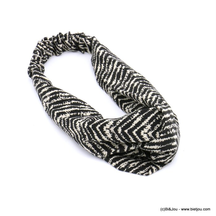 hair band 0620512-01 polyester elastic 80mm