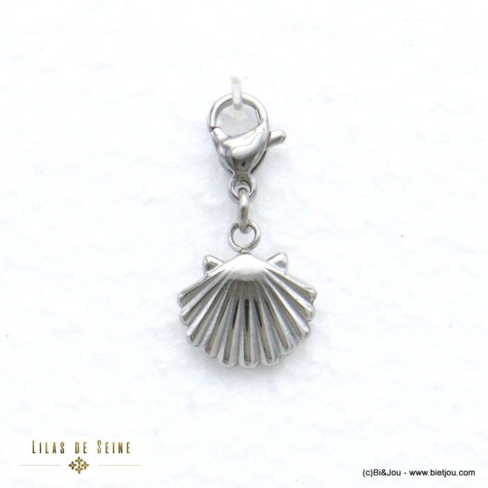 charm 0620574-13 scallop shell stainless steel