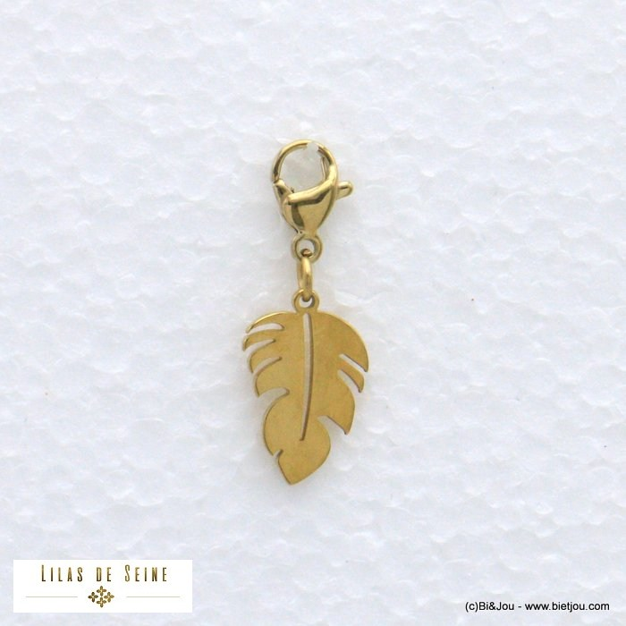 charm 0620581-14 leaf stainless steel