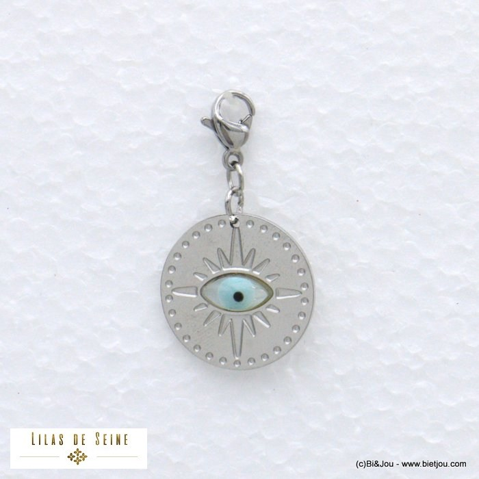 charm 0620587-13 lucky blue eye stainless steel