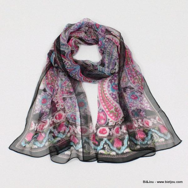foulard imprimé cachemire