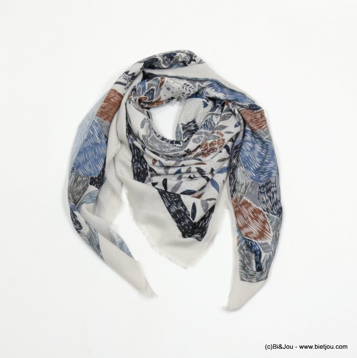 foulard 0718508-08 carré creation française 135x135cm 100%viscose