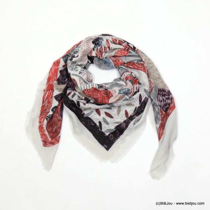 foulard 0718508-11 carré creation française 135x135cm 100%viscose