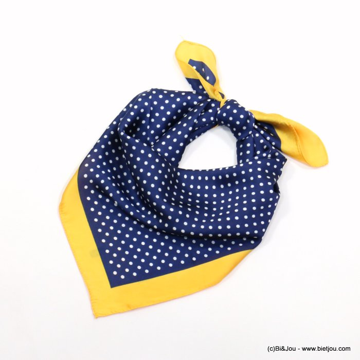 scarf 0719014-09 polka dots 70x70cm 100%polyester