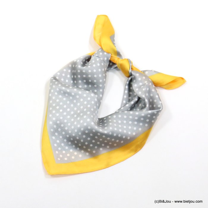 scarf 0719014-25 polka dots 70x70cm 100%polyester